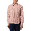 Columbia Women's Silver Ridge Lite Plaid LS Shirt - Small - Cedar Blush Gingham Plaid