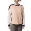 Columbia Women's Lodge II Crew Top - Small - Peach Cloud / Nocturnal / White