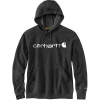Carhartt Men's Force Delmont Signature Graphic Hooded Sweatshirt - Medium Regular - Black Heather