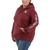 Carhartt Women's Clarksburg Graphic Sleeve Pullover Sweatshirt - XS - Dark Barn Red Heather