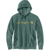Carhartt Men's Force Delmont Signature Graphic Hooded Sweatshirt - Medium Regular - Musk Green Heather