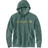 Carhartt Men's Force Delmont Signature Graphic Hooded Sweatshirt - Large Regular - Musk Green Heather