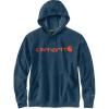 Carhartt Men's Force Delmont Signature Graphic Hooded Sweatshirt - Medium Regular - Light Huron Heather