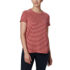 Columbia Women's Firwood Camp II SS Tee - Small - Dusty Crimson Medium Stripe