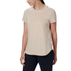 Columbia Women's Firwood Camp II SS Tee - Medium - Peach Cloud Small Stripe