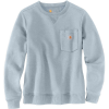 Carhartt Women's Clarksburg Crewneck Pocket Sweatshirt - Small - Soft Blue Heather