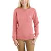 Carhartt Women's Clarksburg Crewneck Pocket Sweatshirt - Small - Coral Haze Heather