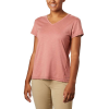 Columbia Women's Bryce SS Tee - XS - Dark Coral Heather