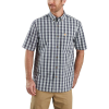 Carhartt Men's Relaxed-Fit Lightweight SS Button-Front Plaid Shirt - XXL Regular - Bluestone