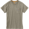 Carhartt Men's Force Cotton Delmont SS T-Shirt - XL Regular - Greige Heather