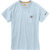 Carhartt Men's Force Cotton Delmont SS T-Shirt - XL Regular - Soft Blue