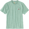 Carhartt Men's Workwear Pocket SS T Shirt - Medium Regular - Musk Green Snow Heather