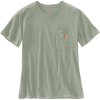 Carhartt Women's WK87 Workwear Pocket SS T-Shirt - Large - Tinted Sage Heather