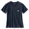 Carhartt Women's WK87 Workwear Pocket SS T-Shirt - XS - Navy