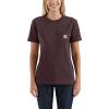 Carhartt Women's WK87 Workwear Pocket SS T-Shirt - XS - Deep Wine