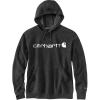 Carhartt Men's Force Delmont Signature Graphic Hooded Sweatshirt - Small Regular - Black Heather
