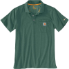 Carhartt Men's Force Cotton Delmont Pocket Polo - XXL Regular - Musk Green Heather