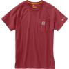 Carhartt Men's Force Cotton Delmont SS T-Shirt - Large Regular - Dark Barn Red Heather