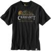 Carhartt Men's Relaxed-Fit Heavyweight SS Outdoor Explorer Graphic T-S - Small Regular - Black