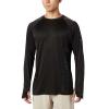 Columbia Men's PFG Buoy Knit LS Shirt - Medium - Black