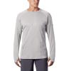 Columbia Men's PFG Buoy Knit LS Shirt - Medium - Cool Grey