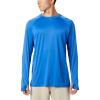 Columbia Men's PFG Buoy Knit LS Shirt - Medium - Vivid Blue