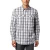 Columbia Men's Silver Ridge Lite Plaid LS Shirt - Medium - City Grey Grid Plaid