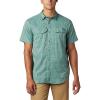 Columbia Men's Silver Ridge Lite Plaid SS Shirt - Medium - Thyme Green Gingham