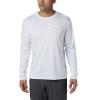 Columbia Men's PFG Zero Rules LS Shirt - Large - White