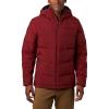 Columbia Men's Lone Fir 650 TurboDown Hooded Jacket - Small - Red Jasper