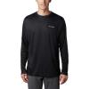 Columbia Men's Terminal Tackle PFG Fish Flag LS Shirt - Large - Black / Graphite
