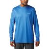Columbia Men's Terminal Tackle PFG Fish Flag LS Shirt - Medium - Vivid Blue / White
