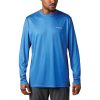 Columbia Men's Terminal Tackle PFG Fish Flag LS Shirt - Large - Vivid Blue / White