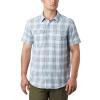 Columbia Men's Silver Ridge SS Seersucker Shirt - XL - Sky Blue Tartan Plaid