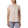 Columbia Women's Irico SS Shirt - Large - Peach Cloud Heather
