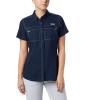 Columbia Women's Lo Drag SS Shirt - Medium - Collegiate Navy