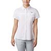 Columbia Women's Lo Drag SS Shirt - Medium - White