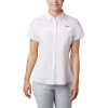 Columbia Women's Lo Drag SS Shirt - Large - White
