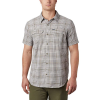 Columbia Men's Silver Ridge SS Seersucker Shirt - Medium - Sage Grid Plaid