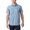 Columbia Men's Silver Ridge 2.0 Multi Plaid SS Shirt - Medium - Azul Gingham