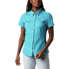 Columbia Women's Lo Drag SS Shirt - Small - Clear Water