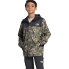 The North Face Boys' Resolve Reflective Jacket - XS - Burnt Olive Green Ponderosa Print