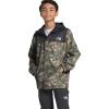 The North Face Boys' Resolve Reflective Jacket - XL - Burnt Olive Green Ponderosa Print
