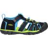 Keen Kids' Seacamp II CNX Sandal - 12 - Black / Brilliant Blue