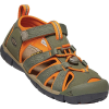 Keen Youth Seacamp II CNX Sandal - 4 - Dusty Olive / Russet Orange