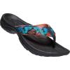 Keen Women's Kona Flip Flop - 6 - Black Multi / Coral