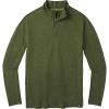 Smartwool Men's Merino Sport 150 Quarter-Zip - Medium - Moss Green Heather