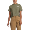 The North Face Women's Recycled Materials SS Tee - Large - Burnt Olive Green Heather