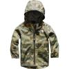 The North Face Infant Zipline Rain Jacket - 12M - Burnt Olive Green Ponderosa Print