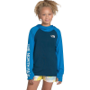 The North Face Youth Class V Water LS Hoodie - Small - Blue Wing Teal
